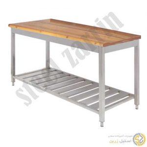 میزکار صفحه چوب   میزکار استیل صنعتی
