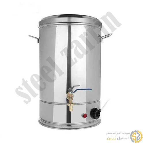 سماور صنعتی   فروش سماور 20 لیتری و سفارشی   تولید سماور بزرگ صنعتی